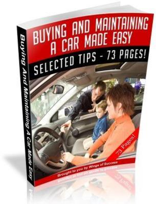 Product picture Buying And Maintaining A Car Made Easy